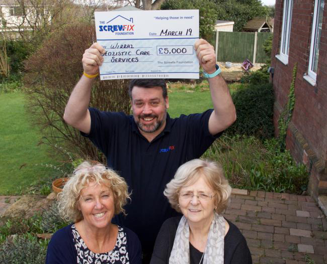 WHCS Receives £5000 boost from The Screwfix Foundation